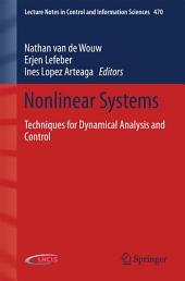 Nonlinear Systems: Techniques for Dynamical Analysis and Control