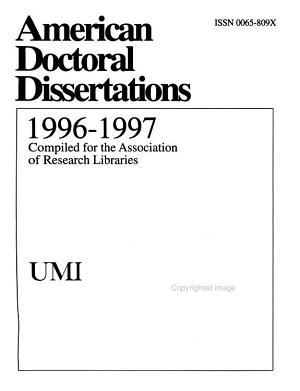 Index to American Doctoral Dissertations PDF