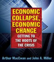 Economic Collapse  Economic Change  Getting to the Roots of the Crisis PDF