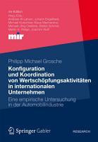Konfiguration und Koordination von Wertsch  pfungsaktivit  ten in internationalen Unternehmen PDF