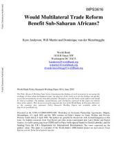 Would Multilateral Trade Reform Benefit Sub-Saharan Africans?