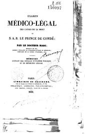 Les Causes de la mort du Prince de Condé [Pendaison]
