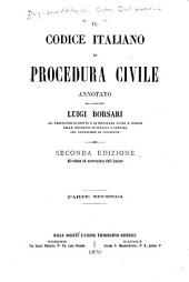 Il codice italiano di procedura civile: Parte 2