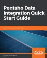Pentaho Data Integration Quick Start Guide PDF