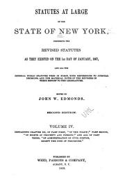 Statutes at Large of the State of New York: General statutes in force to July, 1862