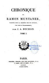Chronique de Ramon Muntaner...