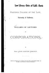 Syllabus of Lectures on Corporations