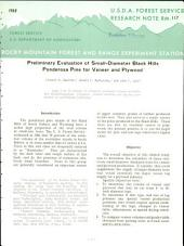 Preliminary evaluation of small-diameter Black Hills ponderosa pine for veneer and plywood