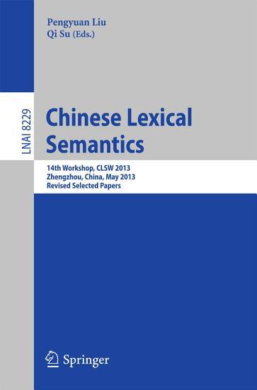 Chinese Lexical Semantics PDF