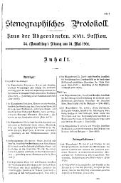 Stenographische Protokolle über die Sitzungen des Hauses der Abgeordneten des österreichischen Reichsrates: Ausgaben 54-59