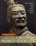 A History of World Societies  Volume 1 PDF