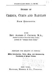 Stories of Crœsus, Cyrus and Babylon from Herodotus