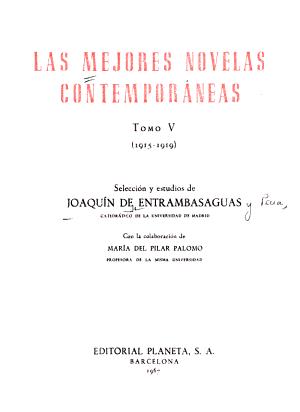 Las Mejores Novelas Contemporáneas: 1915-1919
