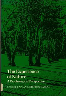 The Experience of Nature Book
