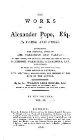 The Works of Alexander Pope, Esq: In Verse and Prose, Volume 9