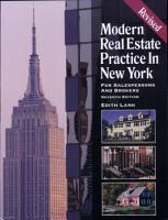 Modern Real Estate Practice in New York PDF
