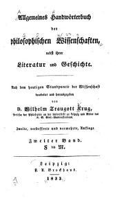 Allgemeines Handwörterbuch der philosophischen Wissenschaften: nebst ihrer Literatur und Geschichte, Band 2