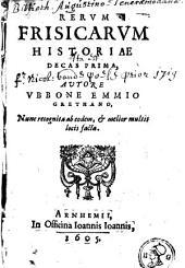 Rerum frisicarum historiae: Volume 1