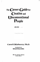 The Career Guide for Creative and Unconventional People PDF
