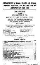 Departments of Labor  Health and Human Services  Education  and Related Agencies Appropriations for 1993 PDF