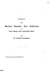 Studien über Marino Sanudo den Aelteren: mit einem Anhange seiner ungedruckten Briefe