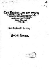 Eyn Sermon von der eygenschaft ... des Sacraments der Tauf