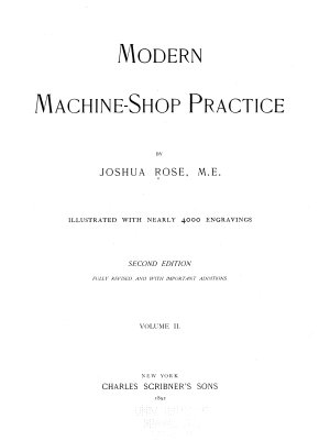 Modern Machine shop Practice