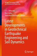 Latest Developments in Geotechnical Earthquake Engineering and Soil Dynamics PDF