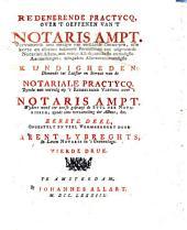 Redenerende practycq over 't oeffenen van 't notaris ampt