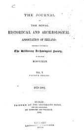 The Journal of the Royal Historical and Archaeological Association of Ireland: Volume 15