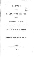 Report of the Select Committee of the Assembly of 1846 PDF