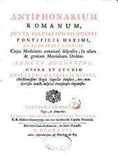 Antiphonarium romanum...modulat...in usum monial O. Sancti Augustini, op. et studio Gul Gabr. Nivers