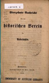 Nachricht über den Historischen Verein für Niedersachsen: Ausgabe 14