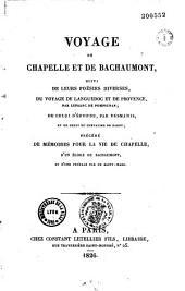 Voyage de Chapelle et de Bachaumont, suivi de leurs poésies diverses, du voyage de Languedoc et de Provence, par Lefranc de Pompignan, de celui d'Éponne, par Desmahis, et de celui du chevalier de Parny, précédé de mémoires pour la vie de Chapelle, d'un éloge de Bachaumont et d'une préface par de Saint-Marc