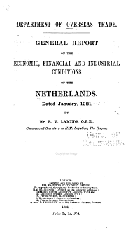 Economic Conditions in the Netherlands