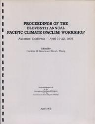 Proceedings Of The 11th Annual Pacific Climate Paclim Workshop Book PDF