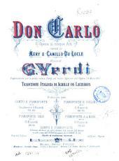Don Carlo: opera in cinque atti