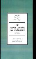 UK Merger Control PDF