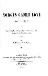 Norges gamle love indtil 1387: Volum 2