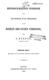 Historisch-kritisch onderzoek naar het ontstaan en de verzameling van de boeken des Ouden Verbonds: Volume 2