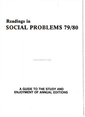 Readings in Social Problems 79/80