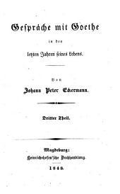 Gespräche mit Goethe in den letzten Jahren seines Lebens, 1823-1832: Band 3