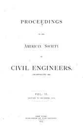Proceedings of the American Society of Civil Engineers: Volumes 2-5