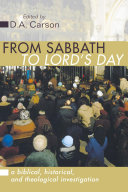 From Sabbath to Lord's Day