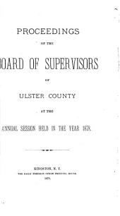 Proceedings of the Ulster County Legislature