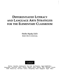 Differentiated Literacy and Language Arts Strategies for the Elementary Classroom PDF