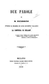 Due Parole ... intorno il dramma di L. G. Vallardi La Contessa di Cellant