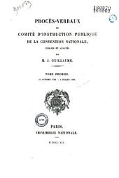 Procès-verbaux du Comité d'instruction publique de la Convention nationale: Volume 1