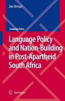 Language Policy and Nation Building in Post Apartheid South Africa PDF
