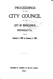 Proceedings of the City Council of the City of Minneapolis, Minnesota From...: Volume 27